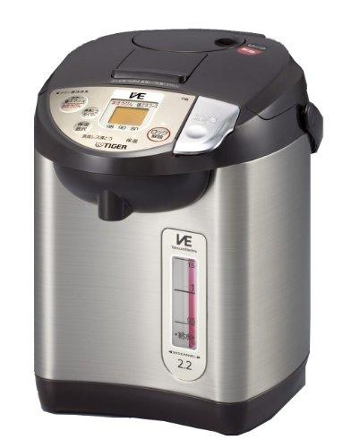 タイガー 魔法瓶 電気 ポット 2.2L ブラウン 蒸気レス 節電 VE 保温 とく子さん PIB-A220-T Tiger