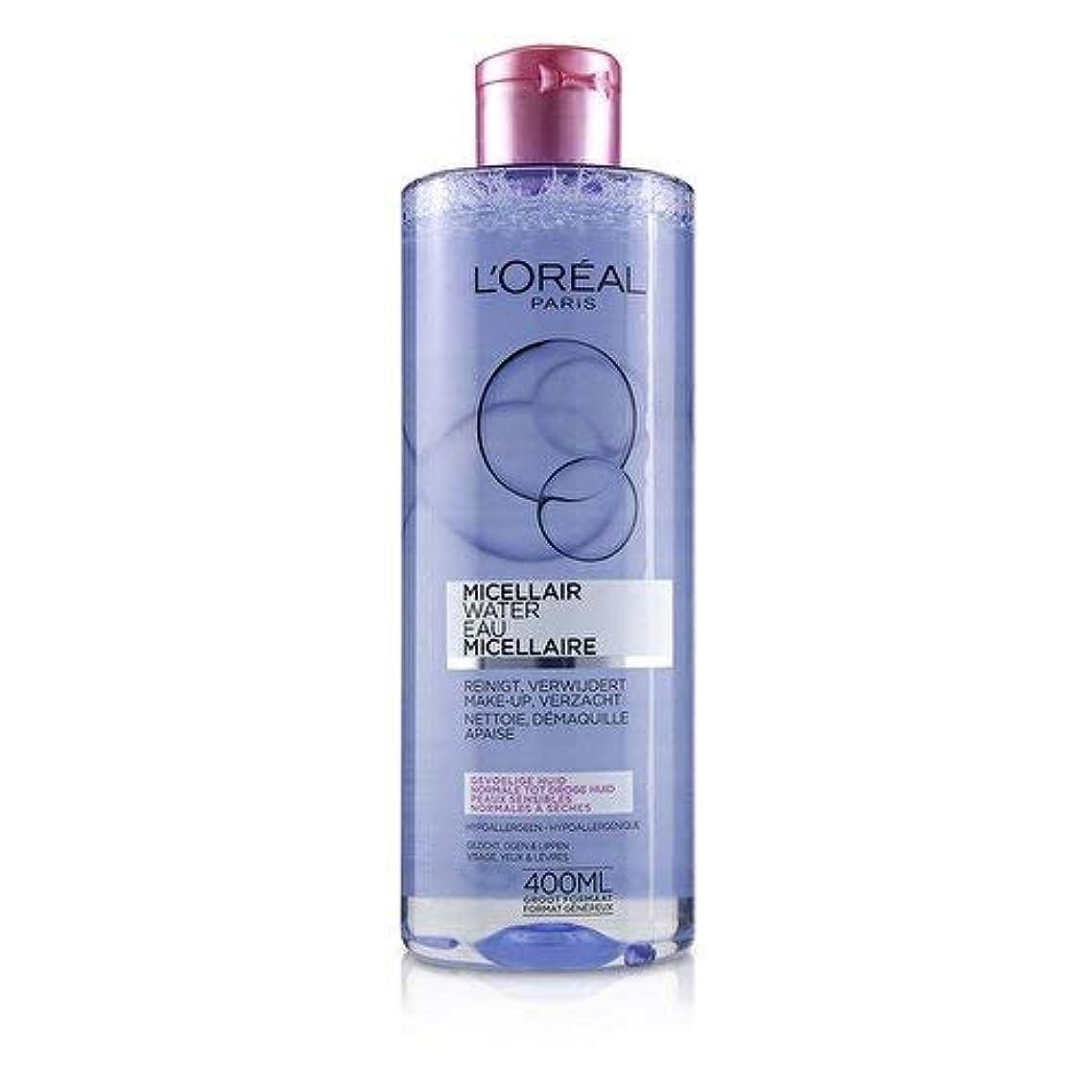 フェードアテンダント化石ロレアル Micellar Water - Normal to Dry Skin & Even Sensitive Skin 400ml/13.3oz並行輸入品