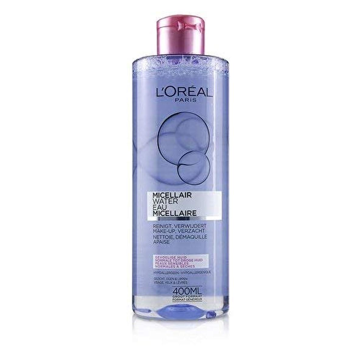 くすぐったい採用する調整可能ロレアル Micellar Water - Normal to Dry Skin & Even Sensitive Skin 400ml/13.3oz並行輸入品