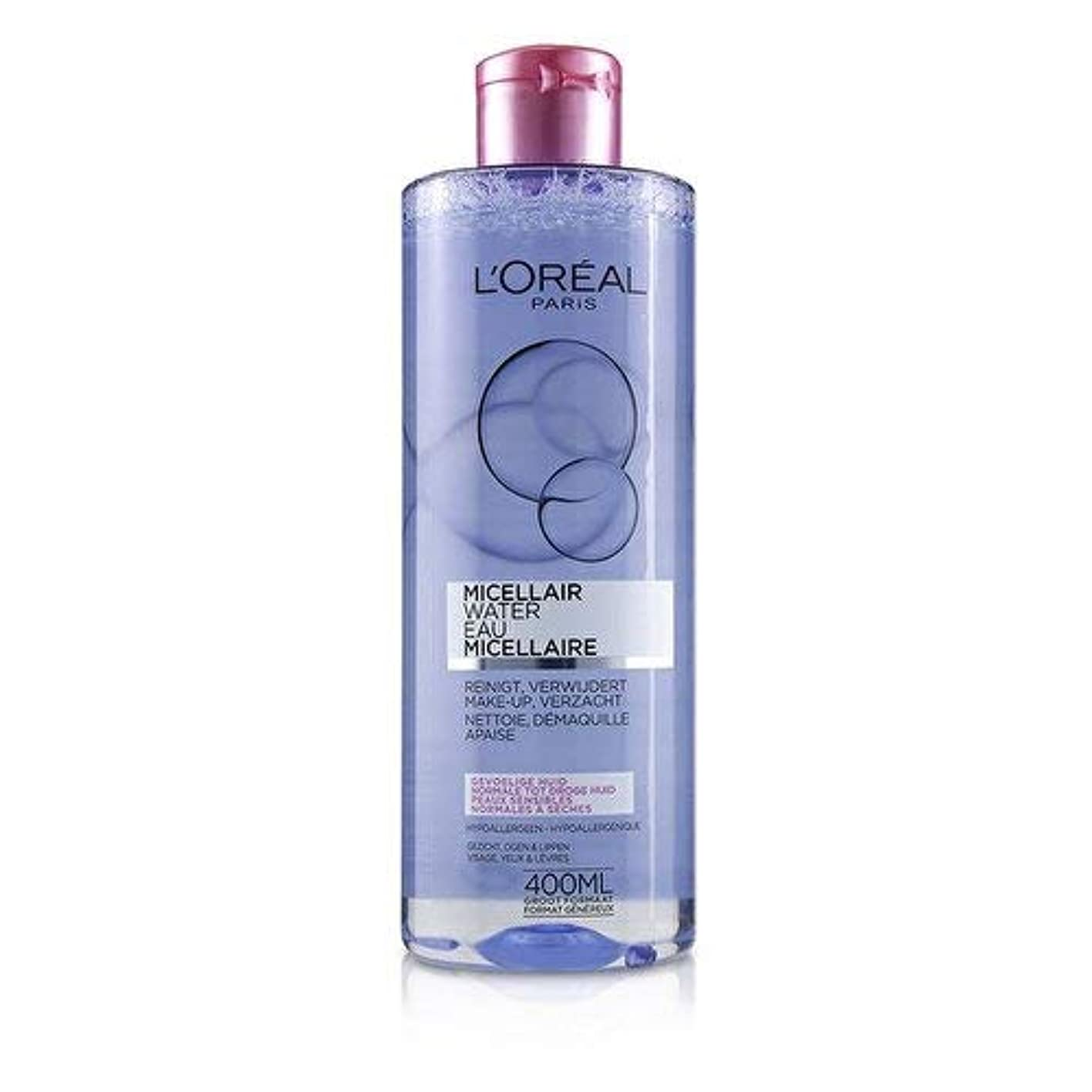 観点フィットネス暴行ロレアル Micellar Water - Normal to Dry Skin & Even Sensitive Skin 400ml/13.3oz並行輸入品