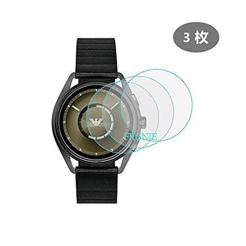 3枚 エンポリオ アルマーニ Emporio Armani Smartwatch スクリーン保護フィルム FRGNIE 9H 強化 ガラス 保護フィルム 対応 Emporio Armani ART5007 / ART5008 / ART5009 / ART9005 スマート腕時計 -New