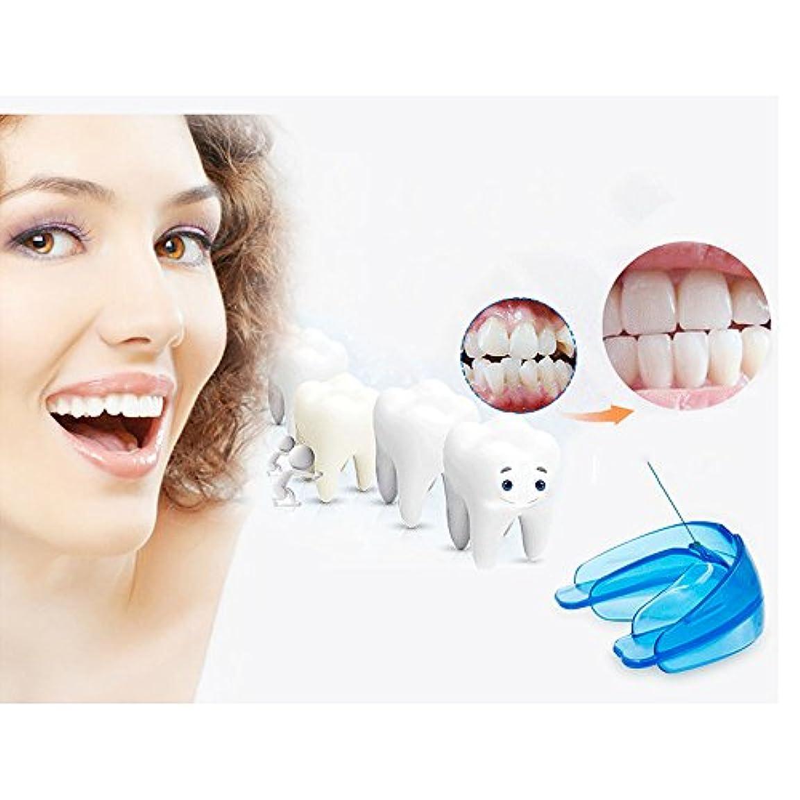 無許可正しくクアッガ歯の矫正、歯並びの固位器 直歯システム 使いやすい ブルー
