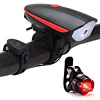 LEDサイクリングランプUSB充電式自転車フロントライト付きアラーム機能自転車ヘッドライト自転車ハンドルバーランプ
