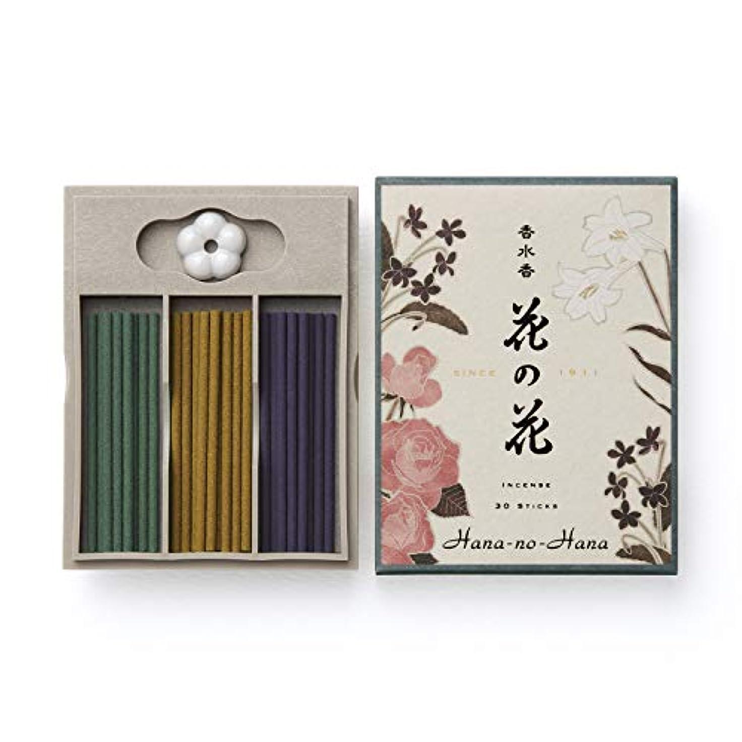 ポール踏みつけパキスタン人日本香堂 香水香 花の花 三種入 スティック30本入 ばら・ゆり・すみれ