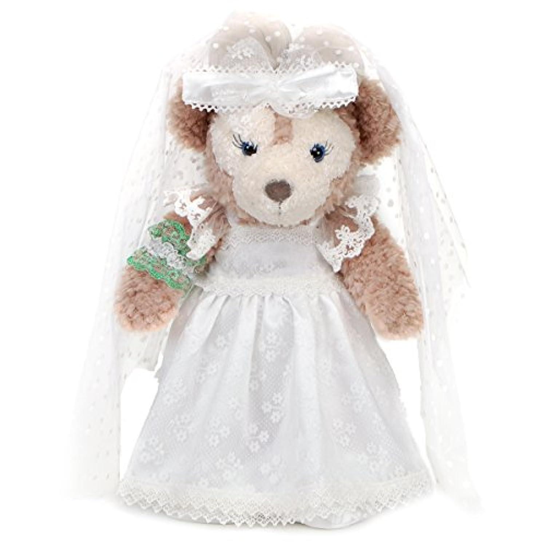 ダッフィー シェリーメイ Sサイズ 43cm 用 ハンドメイド コスチューム ウェディングドレス ホワイト ダッフィーコスチューム ダッフィー衣装 シェリーメイコスチューム シェリーメイ衣装