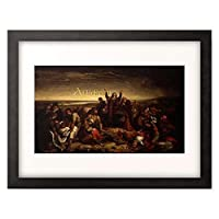 Orlai-Petrich, Soma,1822-1880 「Nach der Schlacht bei Mohacs 1526.」 額装アート作品