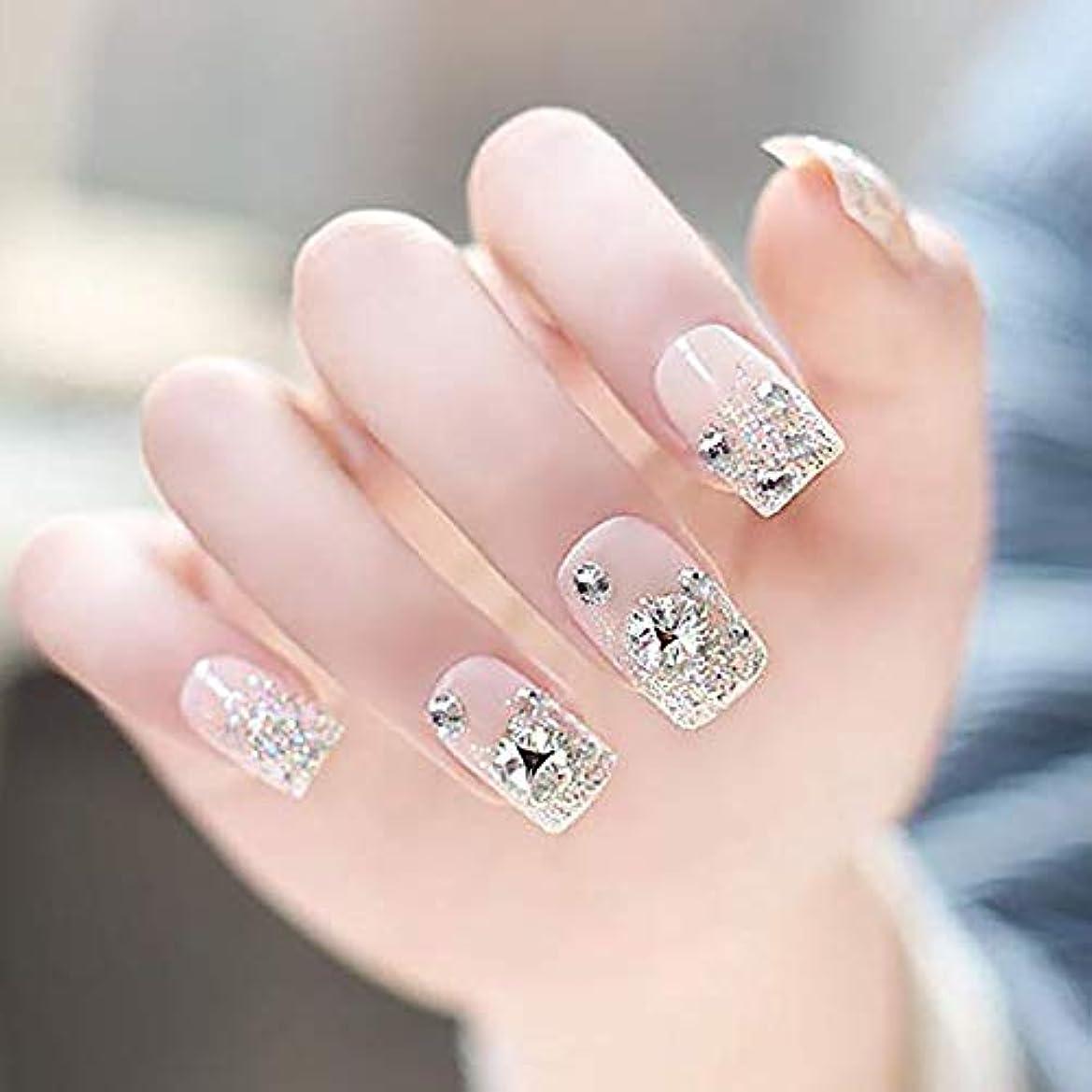 特派員メール販売員24 枚セット チップ つけ爪 付け爪 つけ方簡単 ネイル