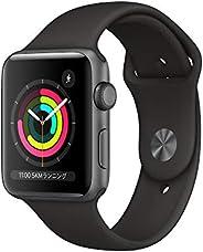 Apple?Watch Series?3(GPSモデル)- 42mmスペースグレイアルミニウムケースとブラックスポーツバンド