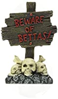 Zoo Med Labs Ornament Betta Bling Skull Sign Home Aquarium Cool Decorations