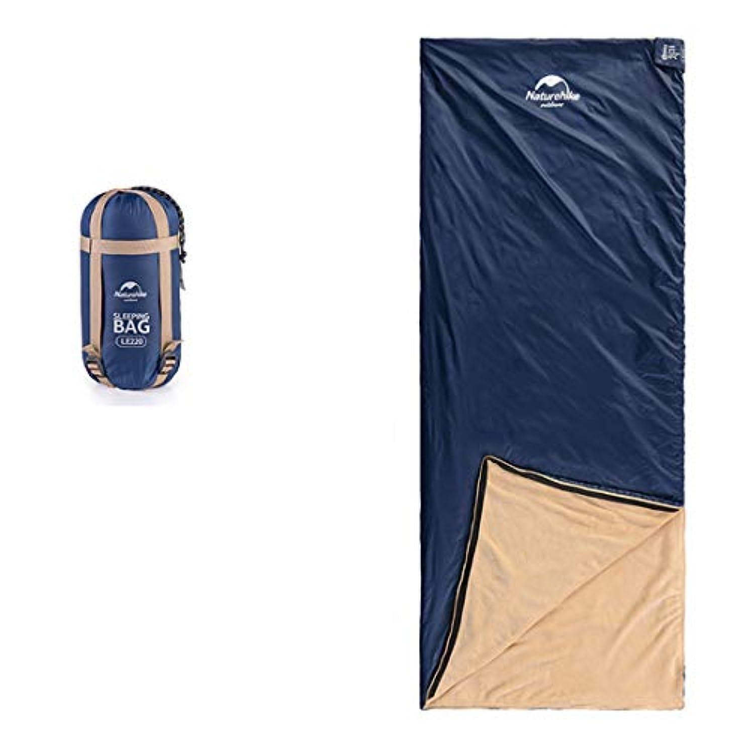 メロンブリッジシャーYIJUPIN キャンプの寝袋 - 封筒軽量の防水防水で快適なサック - 2シーズンの旅行キャンプのハイキングアウトドアアクティビティ (色 : 青, サイズ : 190cm)