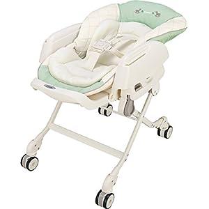 コンビ ベビーラック ネムリラ エッグショック CE ミルキーグリーン 新生児~4才頃対象 どこでも4輪キャスター搭載
