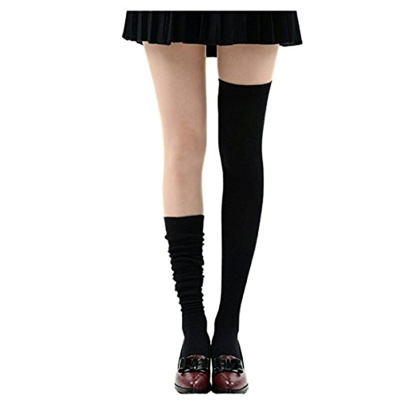 ヒットマインドフル反逆者Manu20 トップ弾力性 女子高生の靴下 サイハイソックス スッキリ 美脚 着圧オーバーニーソックス