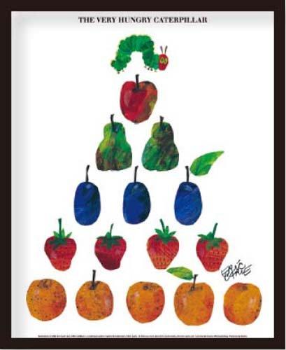 ミニポスター×フレームセット ERIC CARLE Fruits 黒 FST-005