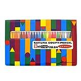 サクラクレパス 色鉛筆 クーピー ソフトケース 24色 5個 FY24R1(5)