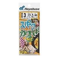 ハヤブサ(Hayabusa) カワハギ スパークカワハギ キツネ鈎 3本鈎 HD208 3-2.5-4