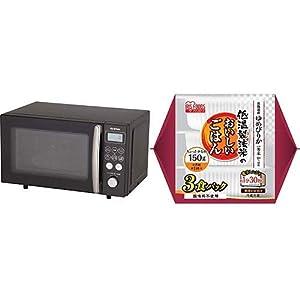 【セット買い】アイリスオーヤマ オーブンレンジ 15L ブラック MO-T1501-B & 低温製法米 パックごはん ゆめぴりか 国産米100% 150g×3個 セット