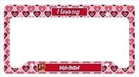 キャロラインはでLH9164LPF 12×6宝物。アイリッシュセッターバレンタイン愛と心のナンバープレートフレーム