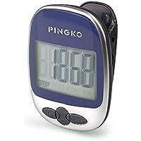 Pingkoアウトドア多機能ポータブルスポーツ歩数計ステップ/距離/カロリー/カウンタ – ブルー