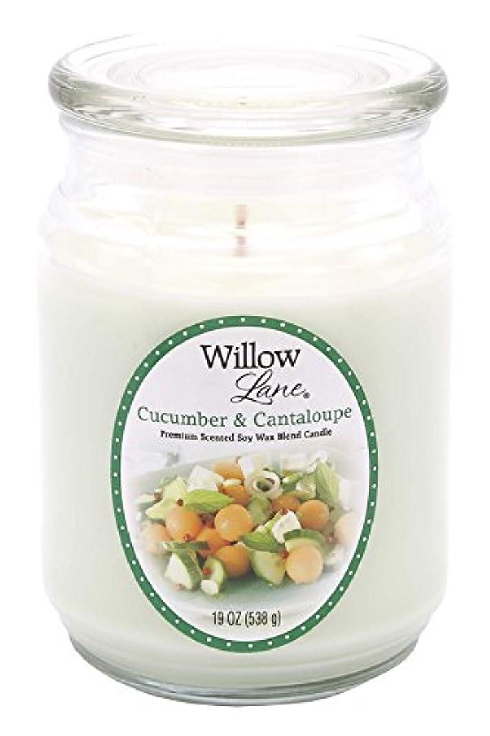 プレミアムトランジスタ雪だるまを作るCandle Lite 1646038 Scented Candle、Cucumber & Cantaloupe、19-oz。Jar 19 oz グリーン 1646038