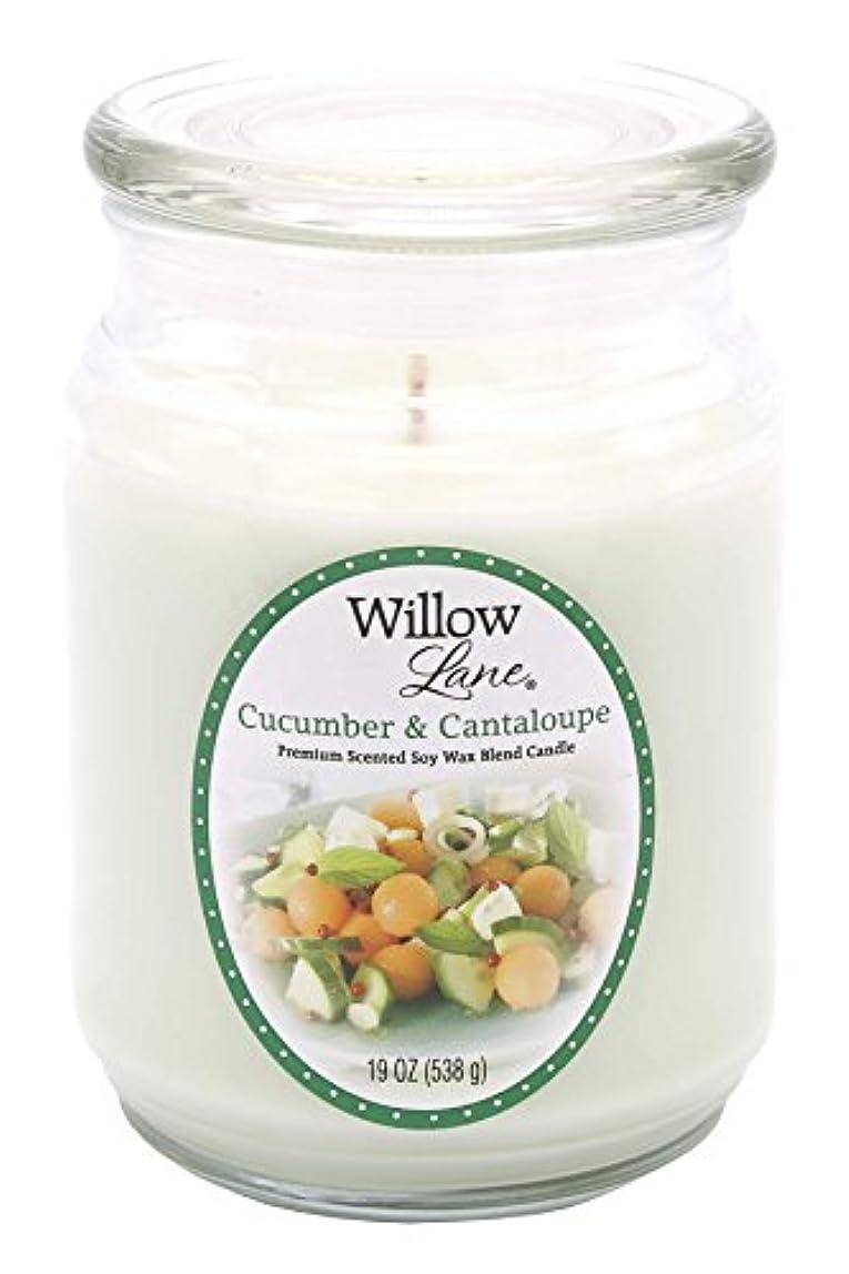 何もない必須ベテランCandle Lite 1646038 Scented Candle、Cucumber & Cantaloupe、19-oz。Jar 19 oz グリーン 1646038