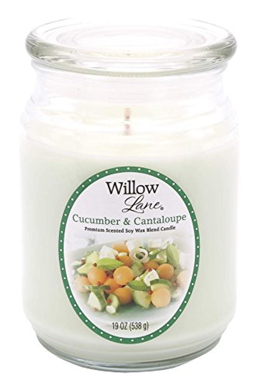 ソーシャルサポート道徳教育Candle Lite 1646038 Scented Candle、Cucumber & Cantaloupe、19-oz。Jar 19 oz グリーン 1646038