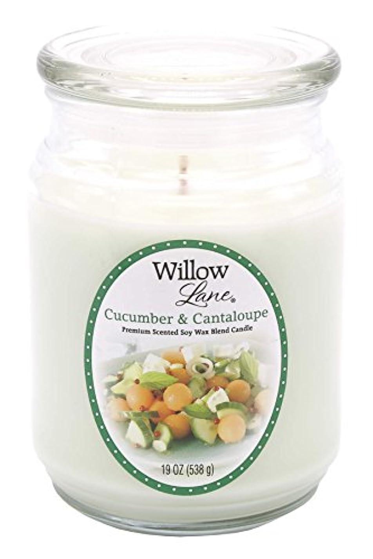 ラッチ航海の困惑Candle Lite 1646038 Scented Candle、Cucumber & Cantaloupe、19-oz。Jar 19 oz グリーン 1646038