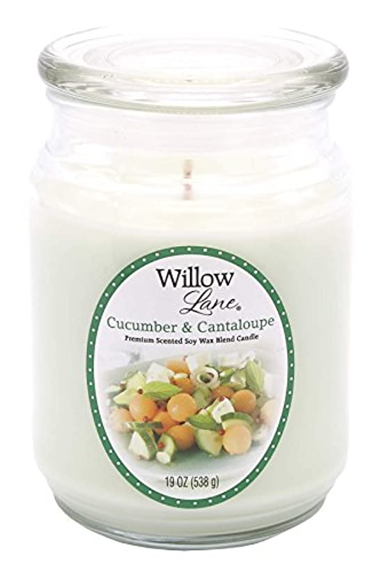 関係鼓舞する宅配便Candle Lite 1646038 Scented Candle、Cucumber & Cantaloupe、19-oz。Jar 19 oz グリーン 1646038