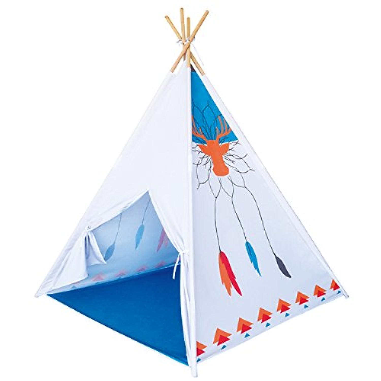 トナカイTribe Teepee Indian Tipiテントキッズインドアアウトドア再生子Playhouse Castle Toy Hut with木製極by Poco Divo