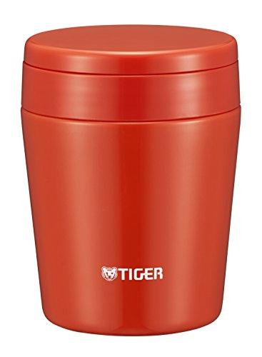 タイガー 魔法瓶 真空 断熱 スープ ジャー 300ml 保温 弁当箱 広口 まる底 チリレッド MCL-B030-RC Tiger