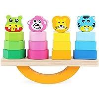 幼児期のゲーム ラブリー動物ビルディングブロックコラムベビージオメトリ認知マッチングおもちゃクリエイティブギフト