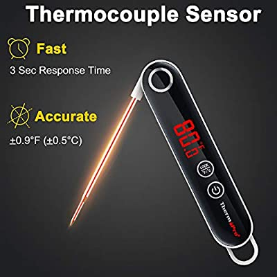 Wireless Remote Digital Cooking Food Meat Thermometer