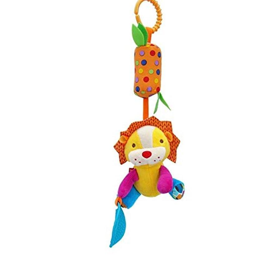 オプショナル死すべきやりがいのあるPinjewelry クリエイティブ ベビー コット おもちゃ キュート ベビー 音楽 旋盤 吊り下げ ベッド プラムトイ (ライオン)