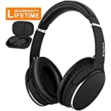 Active Noise Cancelling Bluetooth Headphones, Srhythm Foldable Wireless Over Ear Headset with Deep Bass (16 Hour Playtime, CVC 6.0 Noise Cancellation, Built-in Mic)