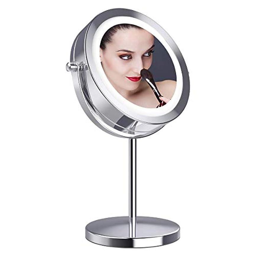 小麦スイング独特の拡大鏡10倍 LED拡大鏡 化粧鏡 LEDミラー 卓上ミラーled 化粧ミラー 360度回転ミラー LEDライト付きミラー 真実の北欧風卓上鏡 卓上鏡 LED化粧鏡 両面化粧鏡 スタンドミラー「Gospire」