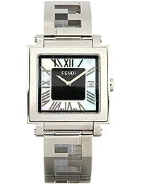 Fendiメンズ' Quadro ' Swiss QuartzステンレススチールDress Watch , Color : silver-toned (モデル: f605011000)