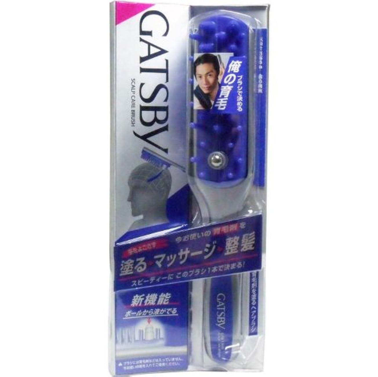 エコー例深遠ギャツビー 育毛剤を塗るヘアブラシ GTB-1800【4個セット】