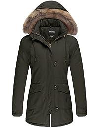 Wantdo ダウンコート 中綿 コート アウター レディース アウトドア コート冬 ファー付きコート 大きいサイズコート