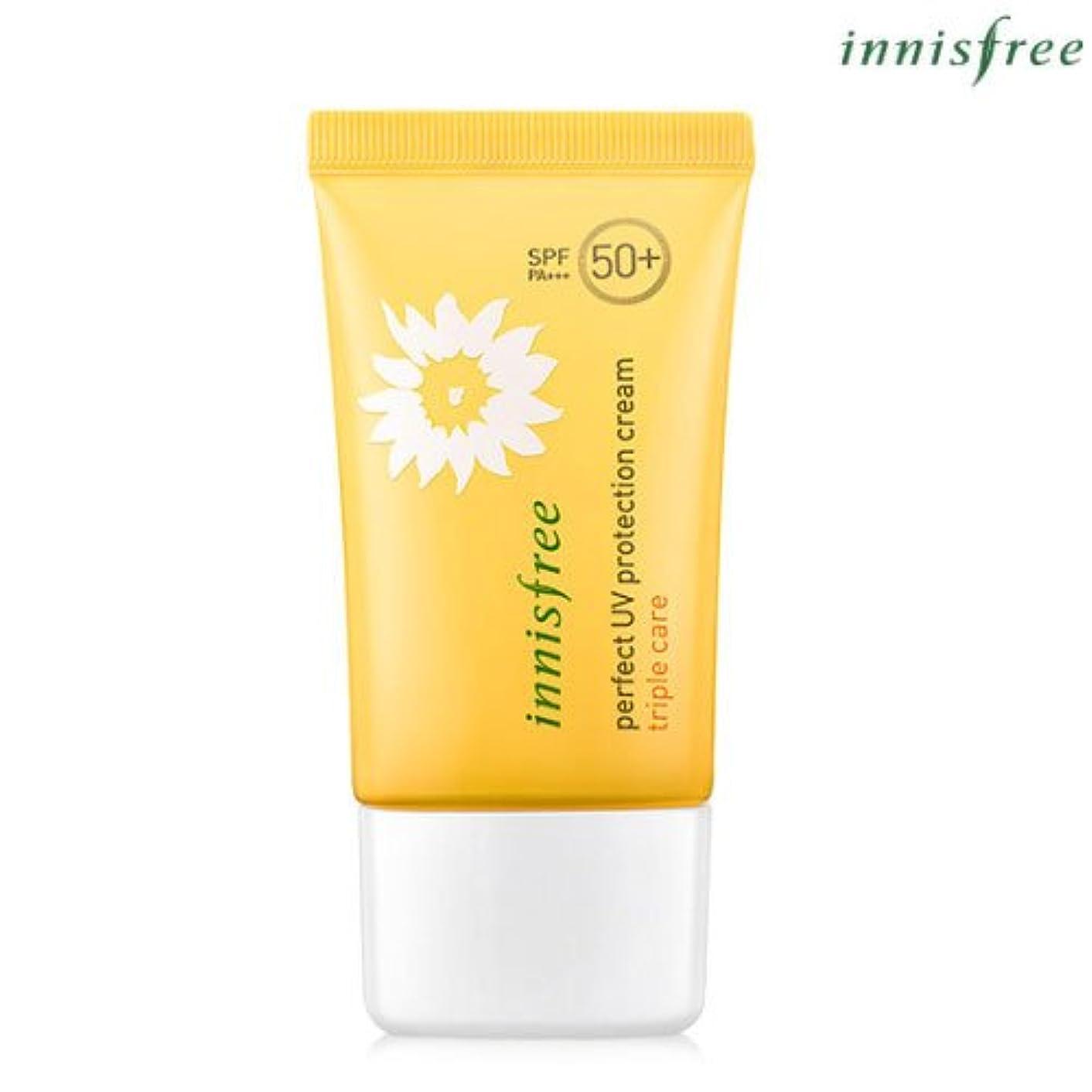 阻害する鹿予言する[INNISFREE]イニスフリーパーフェクトUV プロテクション クリームトリプルケアSPF50+ PA+++ 50mL perfect UV protection cream triple care SPF50+ PA...