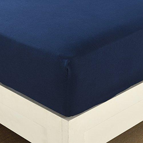 ボックスシーツ シングル 100 %のポリエステル 柔らかい 防シワ 冬用 ベッド シーツ(100*200*30cm, ブルー)