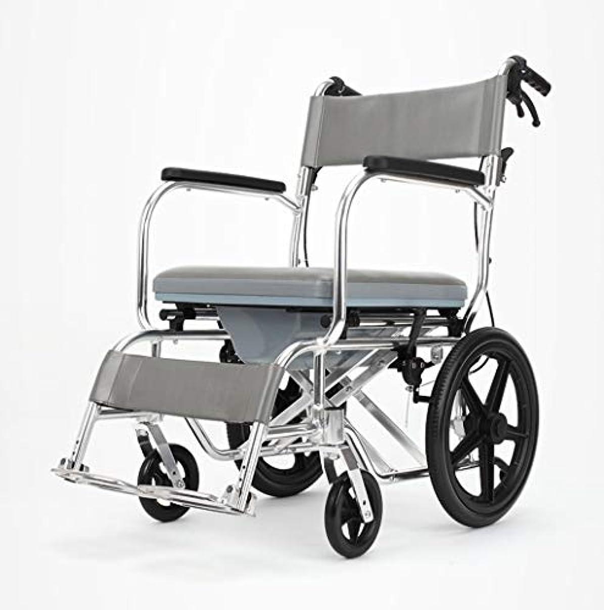 鷹艶スキーム車椅子折りたたみ式多機能安全ケア、ブレーキ、ポータブルトロリー、身体障害者用屋外車椅子