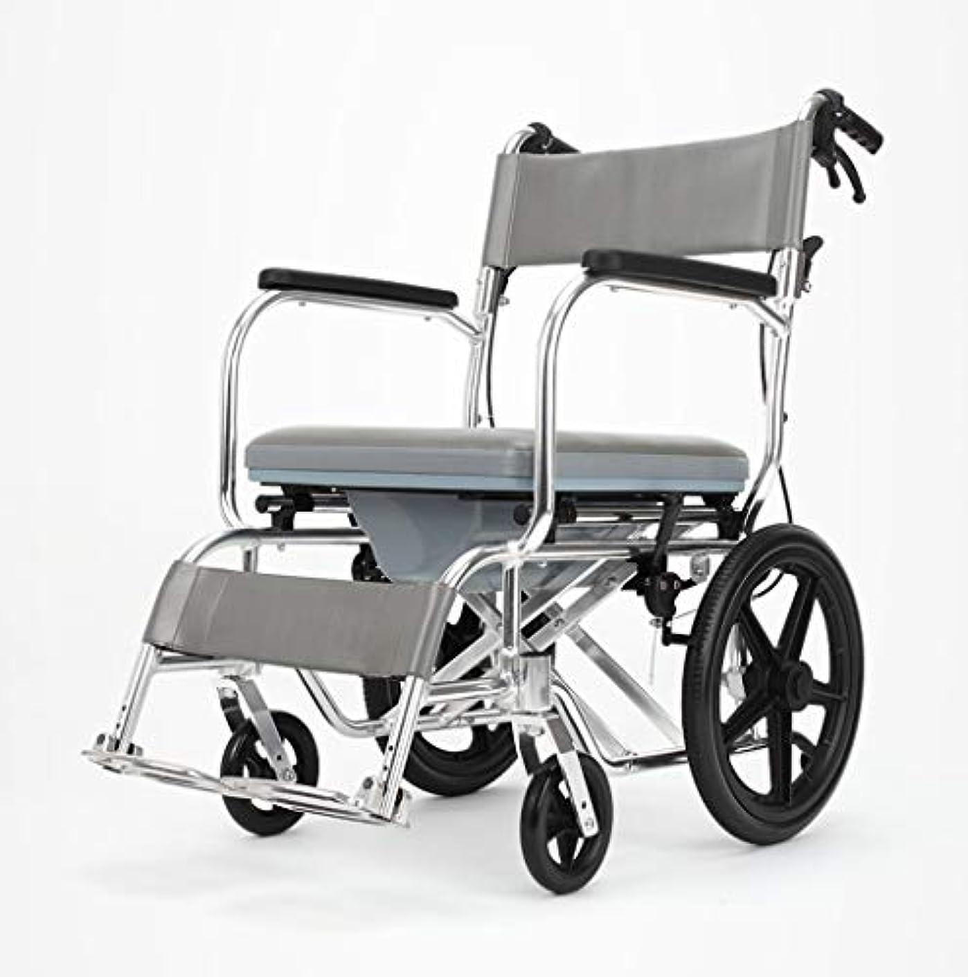従順な暗唱するコインランドリー車椅子折りたたみ式多機能安全ケア、ブレーキ、ポータブルトロリー、身体障害者用屋外車椅子
