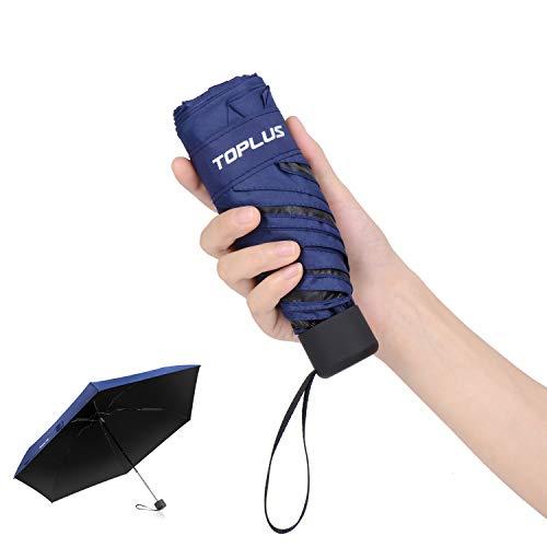 超軽量(183g) 折りたたみ傘 Toplus 折り畳み日傘 UVカット率 99パーセント遮熱 晴雨兼用 ネービー