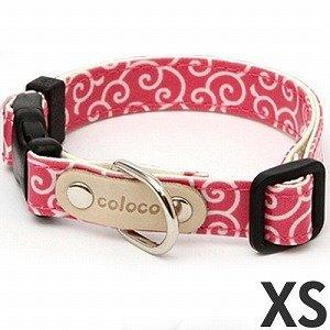 コロコ (coloco) カラー/カラクサ ピンク XS [犬用首輪]
