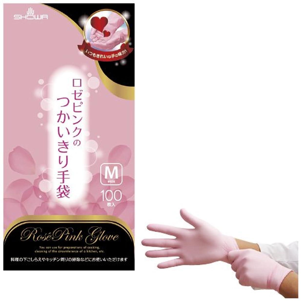 クール乳白色ルームニトリルつかいきり手袋 ロゼピンク ???????????????????? NO.855(M)100????【20箱単位】(24-5453-01)