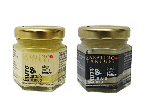 サバティーノ社 白トリュフバター/黒トリュフバターセット