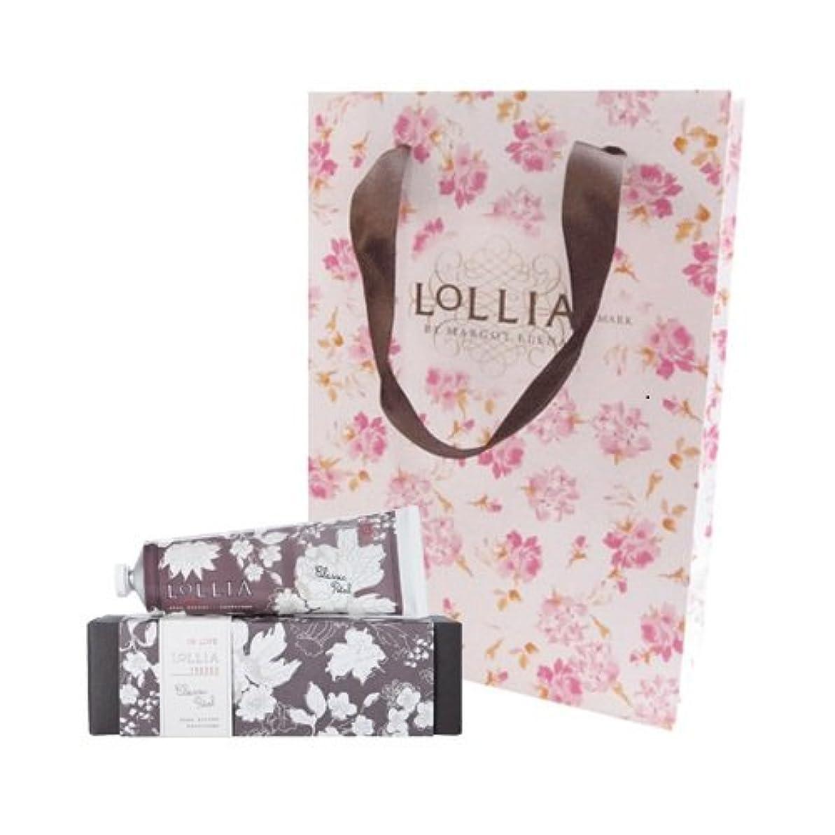 カンガルー胚粘り強いロリア(LoLLIA) ハンドクリーム InLove 35g(手肌用保湿クリーム アップルブロッサム、ジャスミン、ローズのフルーティで爽やかな香り) ショッパー付