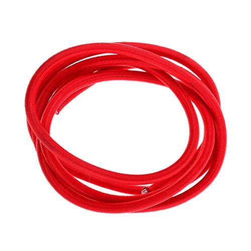 Sharplace 6ミリメートル  赤い 弾力 バンジー ロープ ショック コード タイ ダウン UV安定 全9サイズ - 赤, 10m