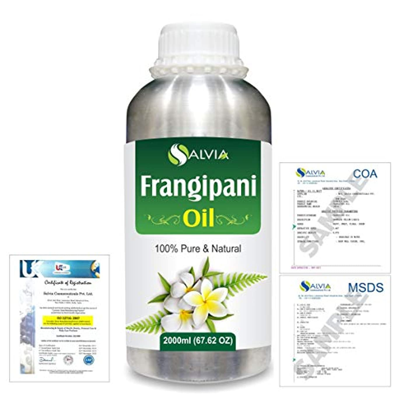 ブッシュ露骨なモナリザFrangipani (Plumeria Alba) 100% Natural Pure Essential Oil 2000ml/67 fl.oz.