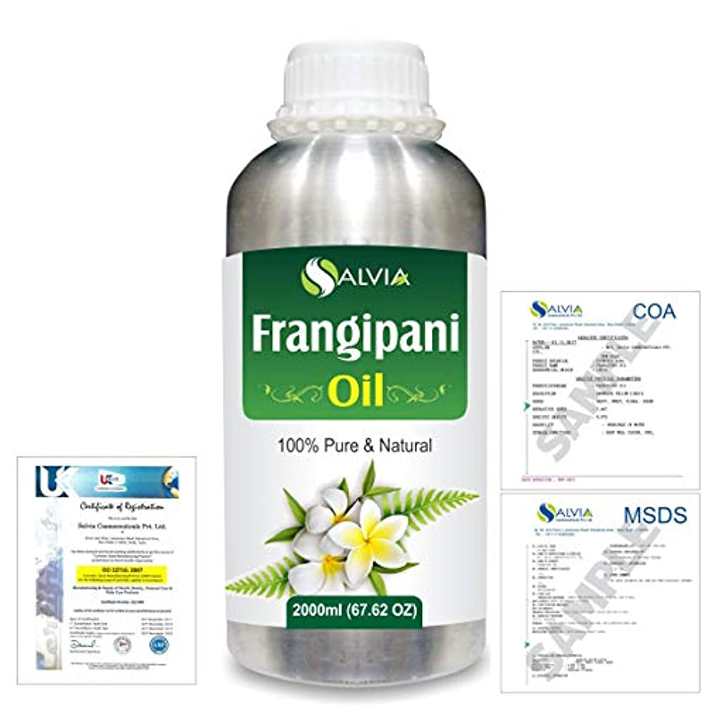 シャープ避難失望させるFrangipani (Plumeria Alba) 100% Natural Pure Essential Oil 2000ml/67 fl.oz.