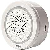 Iycorish Temperature Humidity Alarm Sensor Wifi Siren Tuya Smart Life App Work with Echo Alexa Home IFTTT
